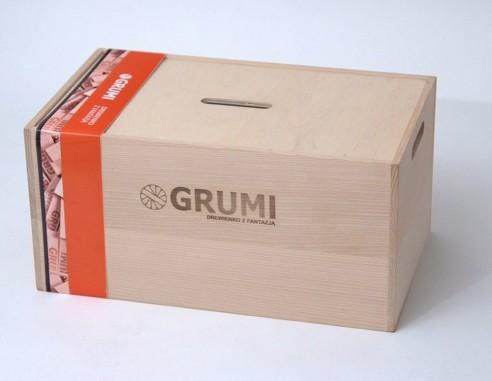 Natural wooden blocks Grumi 500 pcs -...